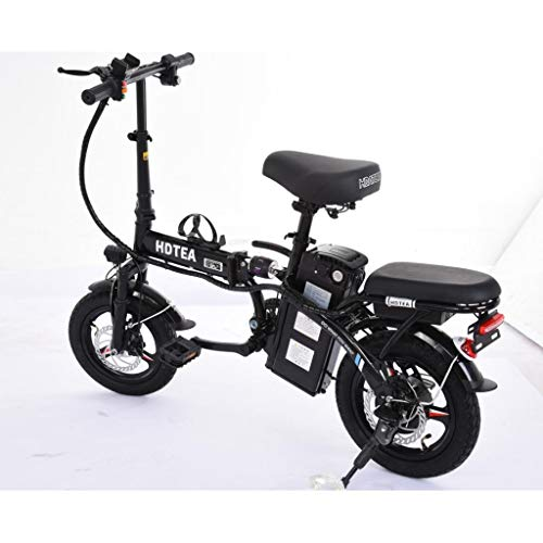 SALE & CLEARANCE Folding Electric Bike, 250W Electric Bike Suitable for Adults and Teenagers Removable Battery Fat Tire Electric Bike Beach Snow Bicycle, Best Fathers Mothers Lovers (Black)