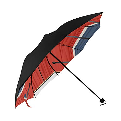 Travel Beach Umbrella Art Of Cute Cartoon Wooden Barn Door Underside Printing Womens Compact Umbrella Cute Compact Umbrella Best Sun Umbrella With 95% Uv Protection For Women Men Lady Girl