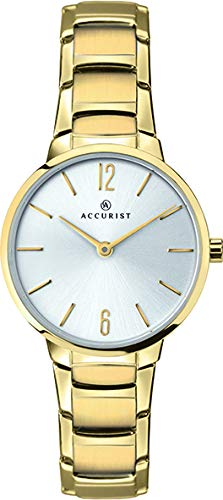 Accurist Womens Quartz Watch, Analogue Classic Display and Stainless Steel Strap 8174