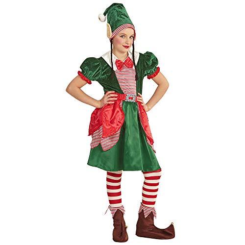 Widmann-Elfo Aiutante di Babbo Natale Costume per Bambini, Multicolore, (116 cm   4-5 Anni), 8785