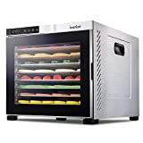 Ivation 10 Tray Premium Stainless Steel Electric Food Dehydrator Machine 1000w for Drying Beef...