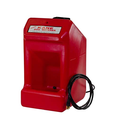 Kane KDW-H Heated Dog/Pet/Small Animal Waterer with Automatic Electric 110V Thermostat to Control Water Temperature, Self-Mounting Brackets Included, 5 Gallon Capacity, 22' x 14' x 12'