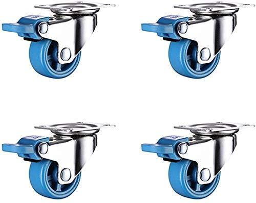 Moviendo ruedas de ruedas ruedas rueda de trabajo pesado universal universal de 360 grados giratorio giratorio para silla de escritorio mesa de café zapatos de juguete conjunto conjunto de 4 ruedas