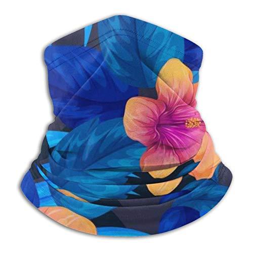 Towel&bag Patrón floral unisex de microfibra calentador de cuello leggings máscara facial turbante negro