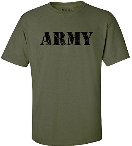 Joe's USA - Military Green Vintage Army Logo T-Shirts in Sizes 2XL