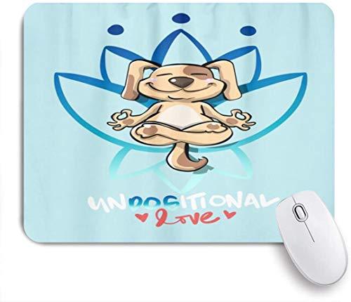 MUYIXUAN Alfombrilla Raton Amor meditando Yoga Perro Divertidos Dibujos Animados Alfombrilla Gaming Alfombrilla para computadora con Base de Goma Antideslizante,240×200×3mm