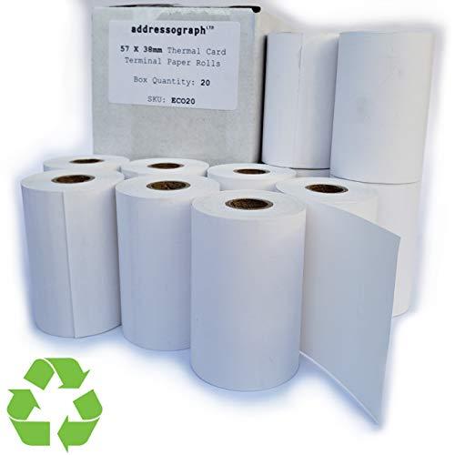 57 x 38 Thermal Credit Card Machine Till Roll Receipt Paper 4 Box 80 Rolls 57 x 38 x 12.7mm Core 57x40 Fit Pax D210