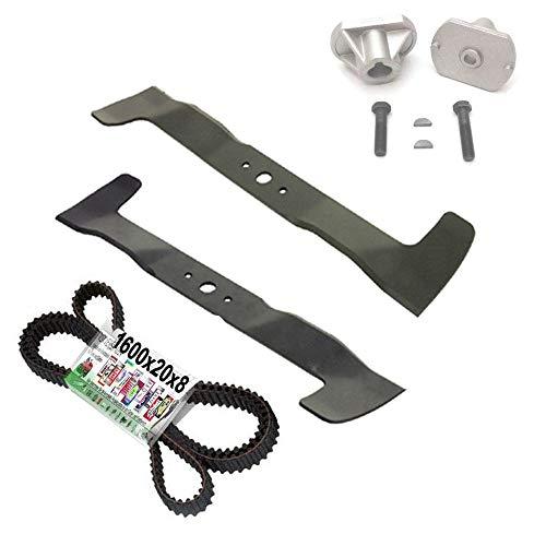Messer Reparatur Set für Castel Garden TwinCut Honda Iseki Brill (102cm Kombi-Mulchmesser)