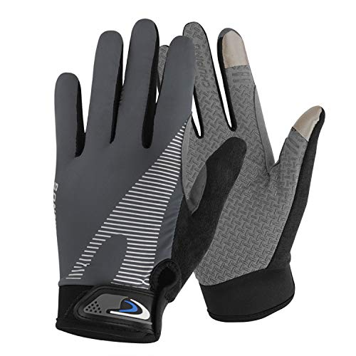 Summer Cooling Cycling Gloves Full Finger Touch Screen for Women Men Breathable Non-slip Motorcycle Mountain Bike Riding Gloves Road Bicycle BMX Lifting Fitness Climbing Workout Exercise Golf Gloves