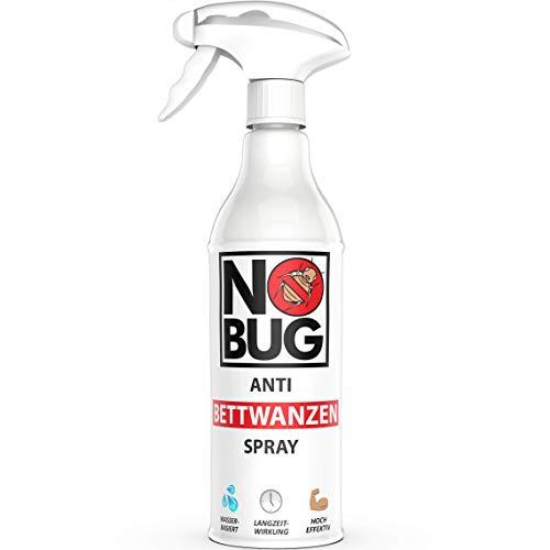 NoBug Anti Bettwanzen Spray 500ml - Zuverlässige Bettwanzen Bekämpfung für den Wohn- und Schlafbereich - Effektives Mittel gegen Bettwanzen - Bettwanzenspray für die Bettwanzenabwehr
