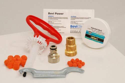 ich-zapfe.de Reinigungsset für Zapfanlage und Keg-klein-mit 28mm Reinigungsadpter, Metall, weiß, 20 x 15 x 5 cm