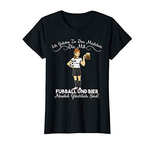 Damen Lustiger Fußball Spruch Frauenfußball Fußball Spruch T-Shirt