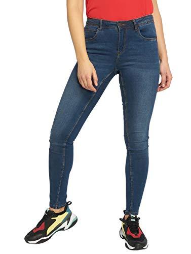 NOISY MAY Damen NMJEN NW S.S Shaper VI021MB NOOS Slim Jeans, Blau (Medium Blue Denim Medium Blue Denim), W28/L30 (Herstellergröße: 28)