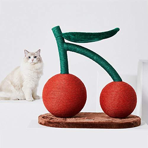 58cm Cereza Árboles para Gatos con Nido de Gato Arañazo Gatos Juguetes de Sisal Natural Rascador para Gatos Arañar Juguete Rojo