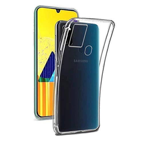 REY - 3X Funda Carcasa Gel Transparente para Samsung Galaxy M30S, Ultra Fina 0,33mm, Silicona TPU de Alta Resistencia y Flexibilidad