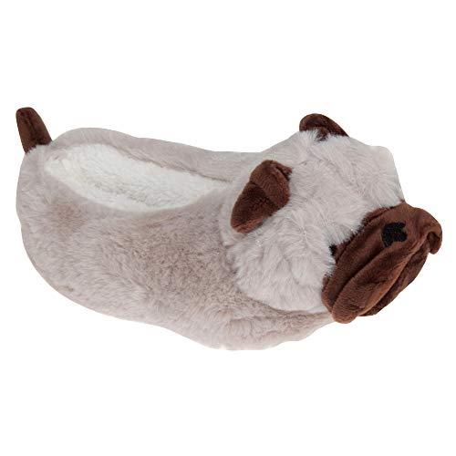Hund 3D Kinder Hausschuhe braun Eu. 30-31
