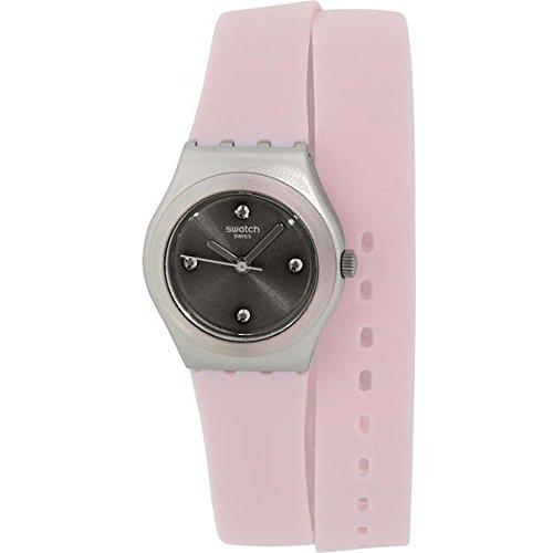 Swatch ironía yss1009Swiss cuarzo reloj de silicona rosa de la mujer