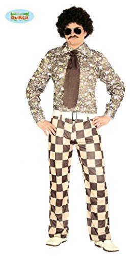 Hässliches 70er Jahre Freak Kostüm für Herren Disko Anzug Disco Dancer Groovy Herrenkostüm, Größe:L