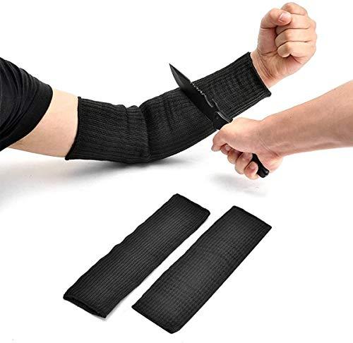 Funda protectora para brazos, resistente a cortes de 40 cm, resistente a las quemaduras, antiabrasión, seguridad para jardín, cocina, granja, trabajo, 1 par