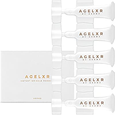 AGELXR UK - Instant Wrinkle Remover (30 Vials 0.6ml Each) - Quickly Tightens Wrinkles, Fine Lines and Diminishes Puffy Eyes. Instant Facelift Serum - Anti-Aging Formula with Argireline®