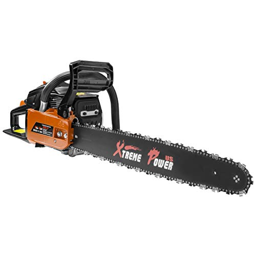 XtremepowerUS 22' inch 2.4HP 45cc Gasoline Gas 2-Stroke Chainsaw Cutting Wood Cutter Industry Engine Motor EPA, Orange