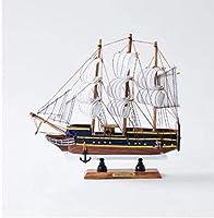 モデル船のリビングルームの装飾ヨットモデル木製工芸品クリエイティブクラフト家の装飾ヨットセーリング木製ボートマニュアルクラフト