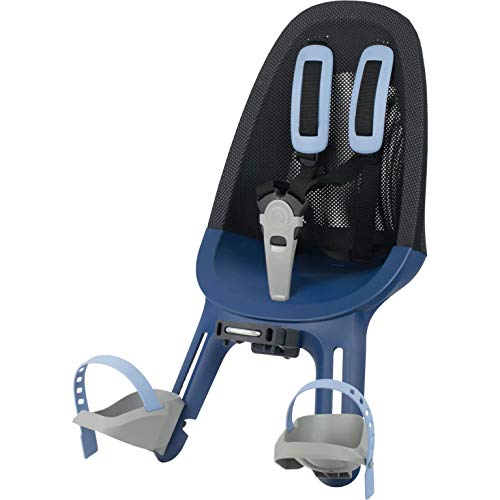 QIBBEL Air Kindersitz für Fahrrad vorne Denim blau