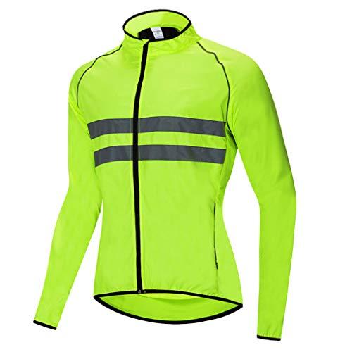Beylore Fahrradjacke Damen Herren Wasserdicht Atmungsaktiv Laufjacke Reflektierend Regenjacke Damen Wasserdicht Radjacke Damen Herren Fahrrad Jacken Damen für Radfahren Laufen Wandern,Grün,M