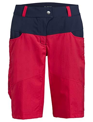 VAUDE Women's Qimsa Shorts Pantaloni, Rosso (Cranberry 993), (Taglia Unica: 42) Donna