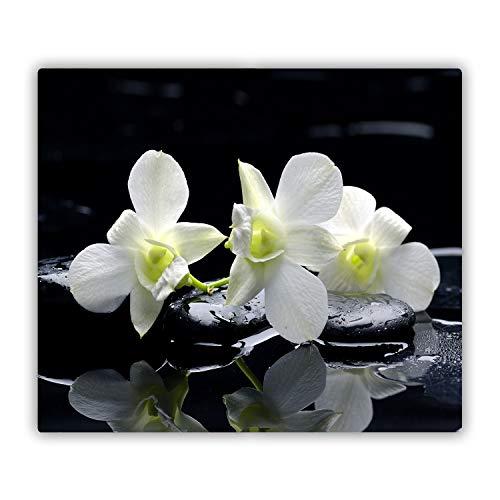 Tulup Tagliere Vetro Temperato - 60x52cm - Copri Piano Cottura - Orchidea