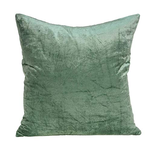 Learn More About HomeRoots Decor 18 x 7 x 18 Transitional Green Solid Pillow Cover with Down Inse...