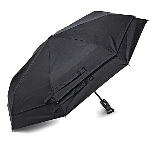 Samsonite Windguard Auto öffnen und schließen Regenschirm, schwarz (schwarz) - 51701-1041