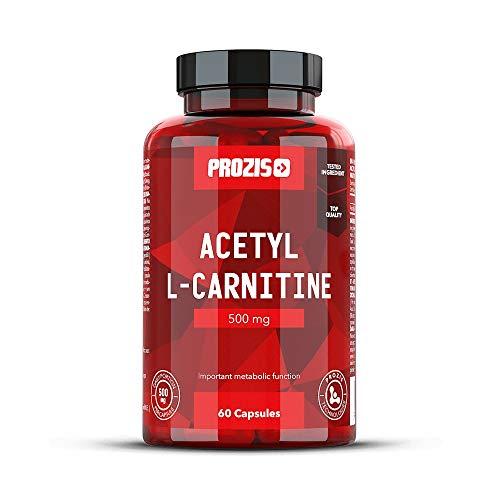 Prozis 100{2cdf3567b23c8266364ba21133032058e39de343250b25a62aa70decf5c2294a} Acetyl L-Carnitine Capsules 500mg: Suplemento de aminoácidos de alta calidad para perder peso y potenciar la capacidad mental y la energía. ¡60 cápsulas!