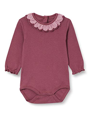 Noa Noa Miniature Basic New, Baby Body,Long Sleeve Camicia, Eggplant, 0M Bimba