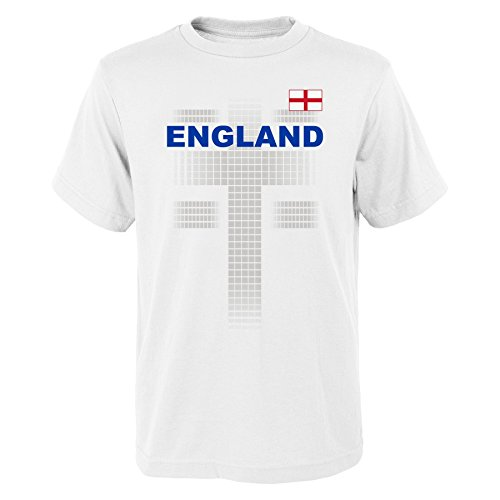 World Cup Soccer England Men's 'One Team 2018' Tee, White, Mens Medium