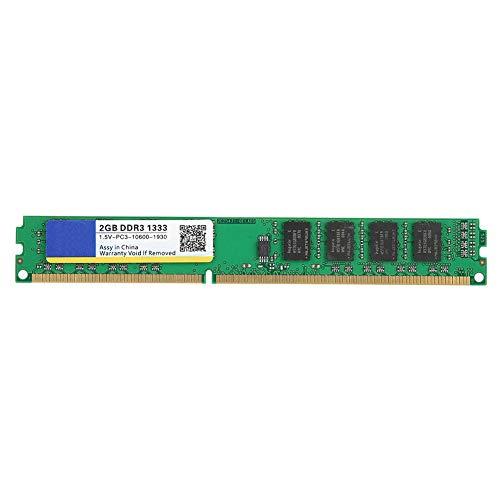 Geheugen RAM, DDR3 1333 MHz 2 GB Desktop-pc Geheugen RAM-bank, voor Intel/AMD-moederbord, voor DDR3 PC3-10600 Desktopcomputer, Anticorrosief, Antislijtage, Snelle Werking
