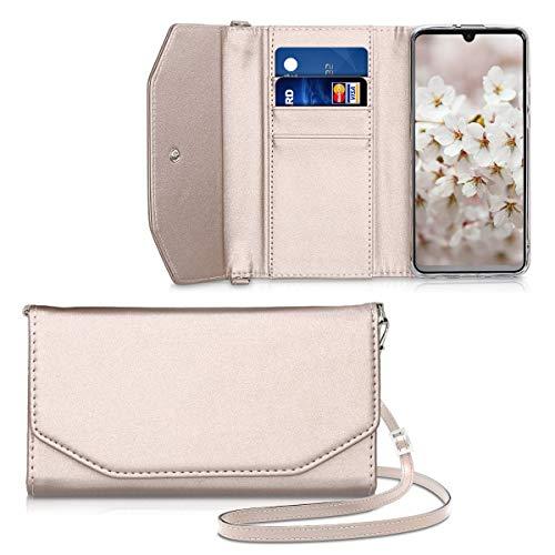kwmobile Funda Tipo Cartera Compatible con Huawei P30 Lite - Carcasa Protectora con Tarjetero Cierre magnético y Cinta Hombros