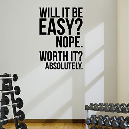 Motivations-Wandaufkleber fürs Fitnessstudio, Zitat für Fitness