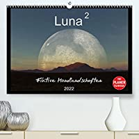 Luna 2 - Fiktive Mondlandschaften (Premium, hochwertiger DIN A2 Wandkalender 2022, Kunstdruck in Hochglanz): Faszinierende Mondbilder in 12 fotorealistischen Landschaften (Geburtstagskalender, 14 Seiten )
