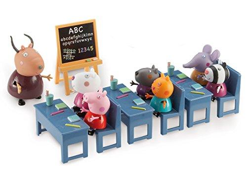 Peppa Pig, Salle de Classe avec 7 Personnages, Figurines, (Peppa, 5 Amis et Madame GazElle), Jouet pour Enfants dès 3 Ans, 4962