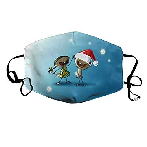 NN/A Weihnachts Erwachsene Mund und Nasenschutz Weihnachten Waschbar und Wiederverwendbar Mundschutz Unsiex mit Motiv Multifunktionstuch