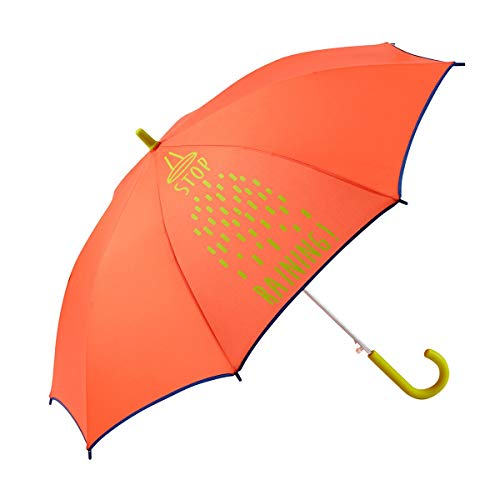 GOTTA Paraguas Infantil niño/niña. Antiviento y automático. Dibujo Lluvia - Stop Raining - Rojo