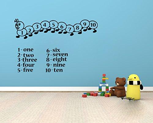 Stickers muraux en Vinyle pour Chambre d'enfant Motif Chenille
