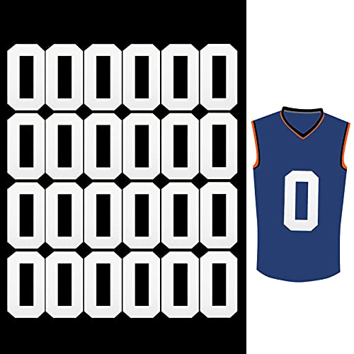 25 Piezas Números Planchados Números de Transferencia de Calor Letras Planchadas de 8 Pulgadas para Uniforme de Equipo Camiseta Deportiva Fútbol Baloncesto Béisbol