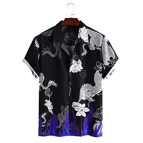SSBZYES Camisa De Manga Corta para Hombre Camisa De Flores De Verano Camisa con Estampado De Letras Divertidas...
