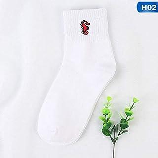 Calcetín de algodón para Mujer Calcetines artísticos Calcetines Estampados para Perros Calcetines Cortos Divertidos de algodón para Mujer