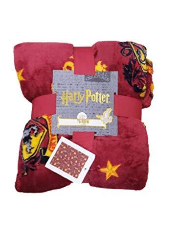Licensed Primark Harry Potter Gryffindor Überwurf, Fleece, 120 x 150 cm, Rot