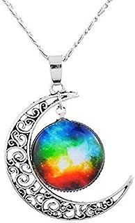Colgantes del Collar de la Luna y la Medalla con el Galaxy diseño de Joyas Ideas de Regalos para Cada ocasión