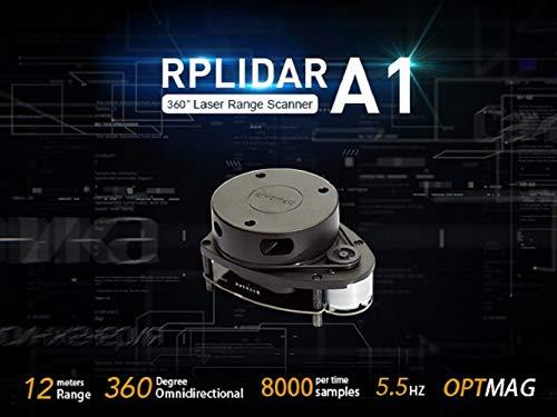 seeed studio RPLIDAR A1M8-R6 360 Degree 2D Laser Range Scanner Kit, 8000 Times Sample Rate and 12 Meters Distance Radar Sensor Module for Intelligent Obstacle/Robot/Avoidance/Maker Education