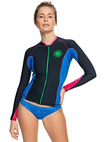 Roxy Damen 1mm POP Surf - Wetsuit Jacket for Women Badeanzug, Blau, 10